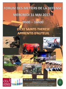 Affiche_Forum_Métiers_Défense_Lycee_Sainte_Therese_2017