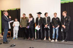 Remise des diplômes du CFG lors de la fête de la Réussite au Lycée Ste Thérèse d'Apprentis d'Auteuil à Paris (75), France