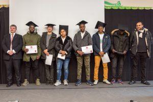 Remise des diplômes aux élèves de CAP et BAC Pro de l'école hôtelière lors de la fête de la Réussite au Lycée Ste Thérèse d'Apprentis d'Auteuil à Paris (75), France